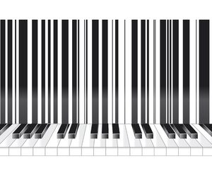 19083997 - barcode in musical style