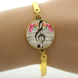 Bracelet - Clef (Gold) - closeup