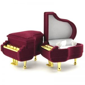 red grand piano gift box