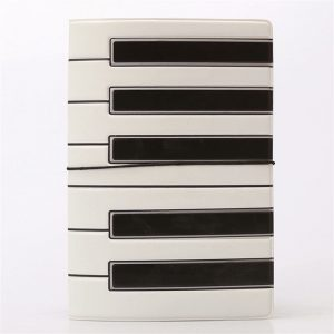 piano keys passport holder