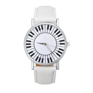 piano watch white