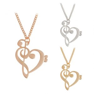 Necklace - Heart in FG Clef